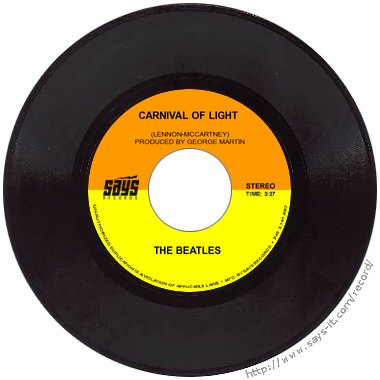 beatles carnival  light   minutes  experimental track  finally   day