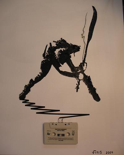 the clash cassete tape art